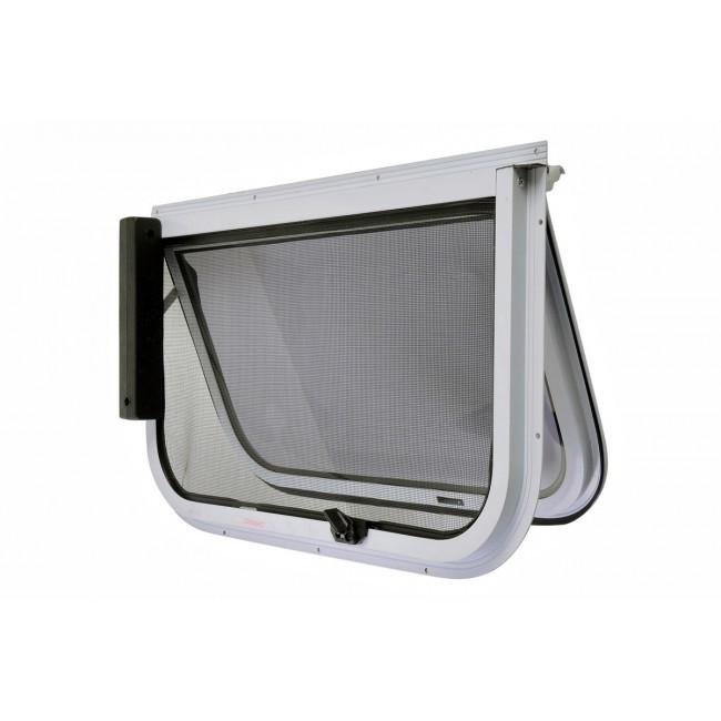 2 Radius Corner Wind Out Window 380mm X 610mm White Frame