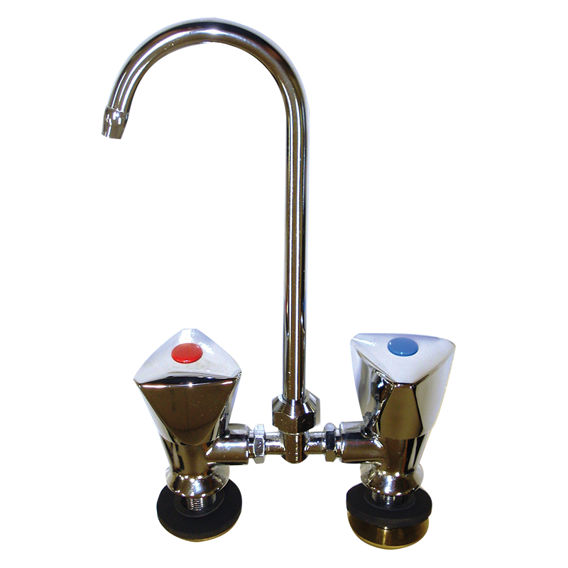 Hot And Cold Mixer Faucet Chrome With Folding Swivel Spout