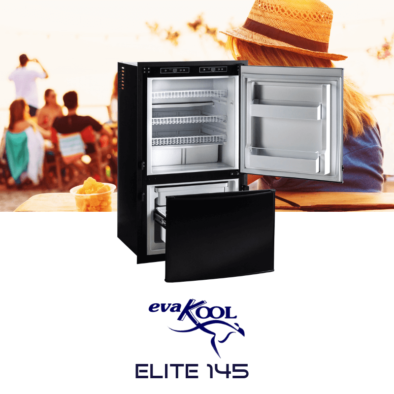 EVAKOOL ELITE 12V/24V UPRIGHT 145L FRIDGE FREEZER | Caravan