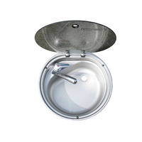 Dometic Bowl sink & glass lid, cold tap