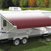Carefree Fiesta 16ft Burgundy Shale Fade Roll Out Awning (No Arms)
