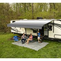 Carefree 192inch/16FT SILVERFADE WHT Altitude Awning with LED Lightbar. FY1926D00RA