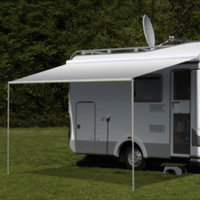 Carefree Freedom 2.5M Silver Shale Fade 12V Box Awning. 351016D25TM