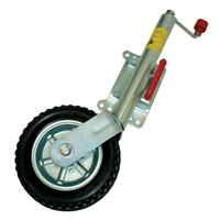 "ALKO 10"" SOLID TYRE JOCKEY WHEEL C/W SWIVEL CLAMP. 623660XP3"