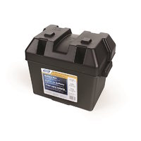 CAMCO Battery Box - Small. C/W Lid + Strap 273L x 184D x 200H. # 55362