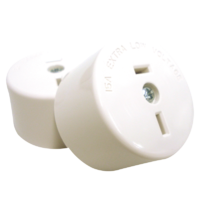 402/32 Fixed Polarity Socket White