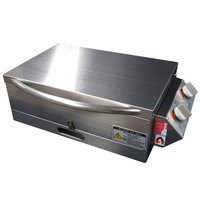Sizzler Deluxe 2.0 S/Steel BBQ with Low Lid & Slide.