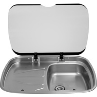 Spinflo Mk3 Argent Sink With Left Hand Drain