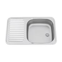 Dometic S/STEEL SINK WITH SIDE DRAIN