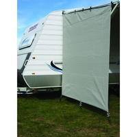 Camec privacy end caravan 90 % shade steel grey 2.1 x 2.05m