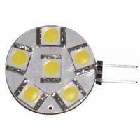 LED G4 SIDE PINS 6 LEDs 12 VOLT COOL WHITE    0211316C
