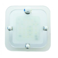 CAMEC LED SQ CRYSTAL 1 SECTION 21 COOL WHITE LEDS P/BUTTON