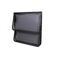 2 Radius Corner Double Hopper Window 1137mm X 914mm Black Frame