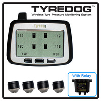 Tyredog 4 Wheel Monitor Pressure & Temperature Sensor & Relay