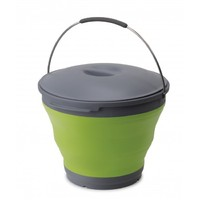Popup Bucket with Lid 9.5L (green)