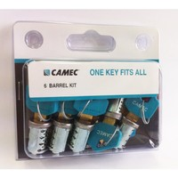 1 KEY FITS ALL  BARREL ONLY KEY ALIKE