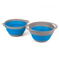 Pop Up Colander & Bowl Set - Blue