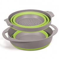 Pop Up Colander & Bowl Set - Green