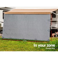 3.7x1.8m Caravan Privacy Screen Grey
