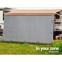 4.3 x 1.8m Caravan Privacy Screen Grey