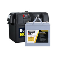 Giantz 12V 75Ah AGM Deep Cycle Battery with Battery Box
