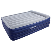Queen Size Inflatable Air Mattress - Navy & Grey