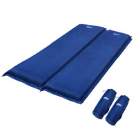 Double Size Self Inflating Mattress - Blue