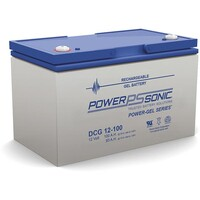 Power-Sonic 12V 100Ah Gel Deep Cycle Battery