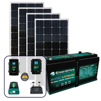 Enerdrive 200Ah Off-Grid 40A AC & DC Charging Bundle, with 720W of Solar Panels and 2600W Inverter (AC Transfer)