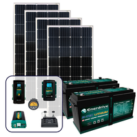 Enerdrive 400Ah Off-Grid 40A DC & 60A AC Charging Bundle, with 720W of Solar Panels and 2600W Inverter (AC Transfer)
