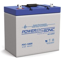 Power-Sonic 12V 59A AGM Deep Cycle Battery