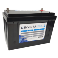 Invicta 12V 125Ah Lithium Battery with Bluetooth