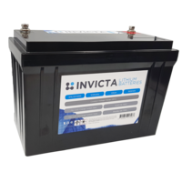 Invicta 12V 125Ah Lithium Battery with 4 Series Functionality
