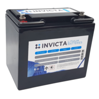 Invicta 12V 40Ah Lithium Battery with 4 Series Functionality