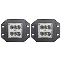 Pair 30W CREE LED Work Light Bar Flood Flush Mount 12V 24V Truck Reverse 5 inch