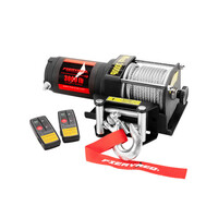 FieryRed 12V 1361kg Steel Cable Electric Winch with Wireless Remote