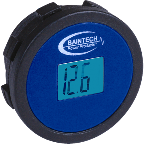 Baintech DC 12 Volt LCD Meter Flush Mount Single